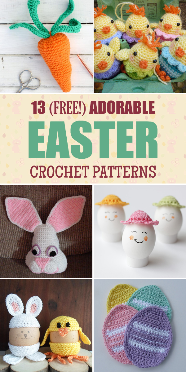 13 Free Adorable Easter Crochet Patterns