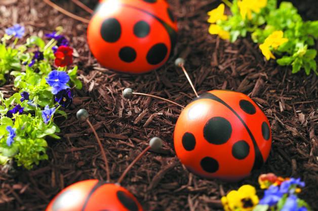Bowling Ball Garden Art Ladybug