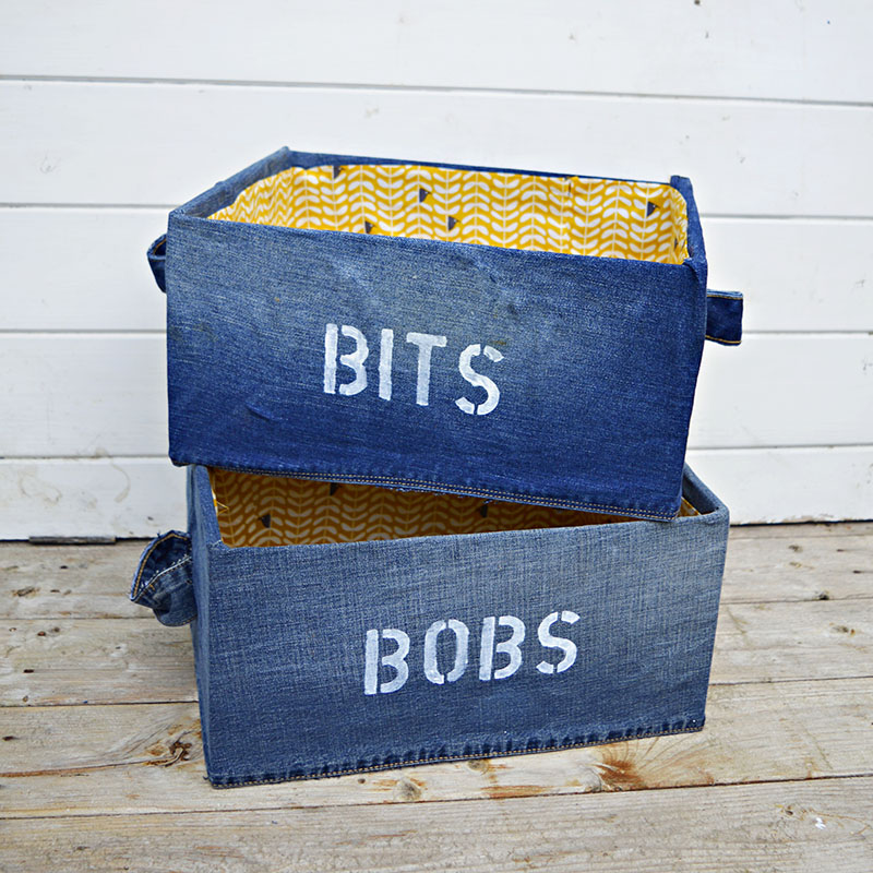 Denim Storage Boxes