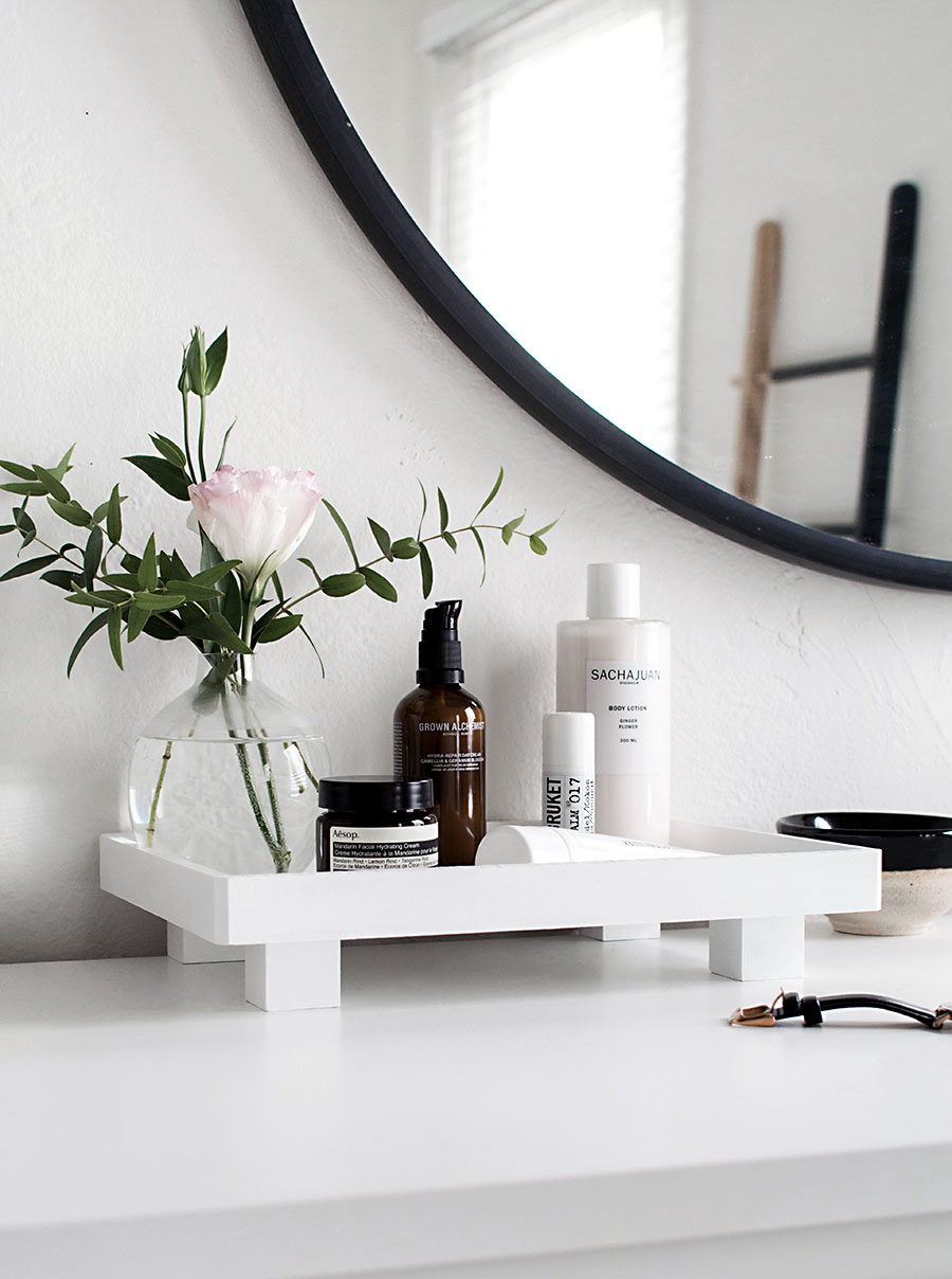 Footed Vanity Tray