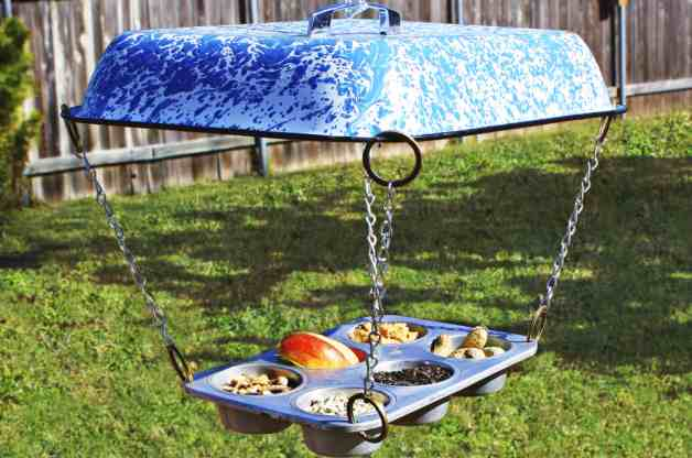 Muffin Tin Bird Feeder
