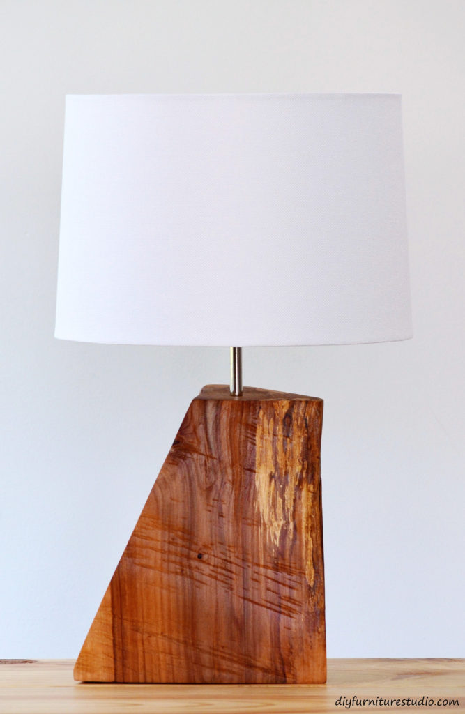 Rustic Natural Wood Table Lamp