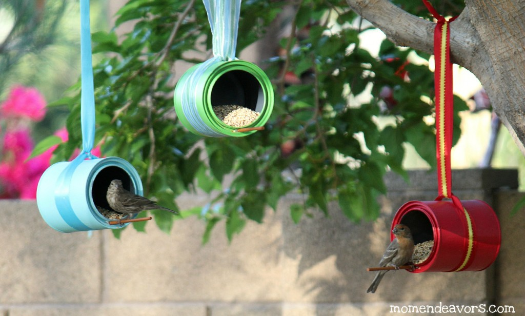 Tin Can Bird Feeders