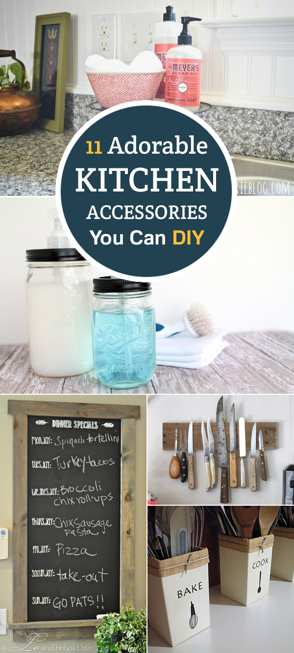 11 Adorable Kitchen Accessories You Can DIY