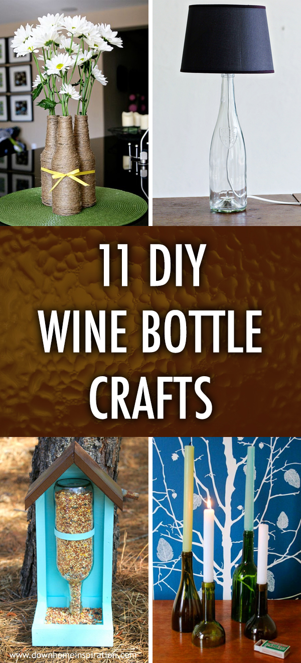 11 Cool DIY Wine Bottle Crafts