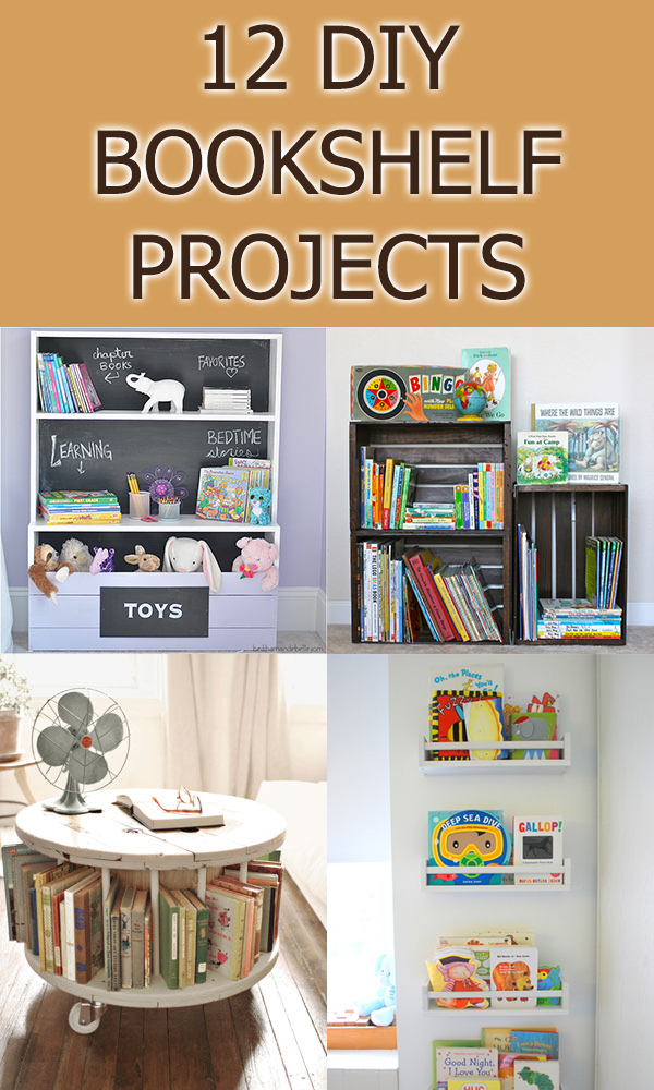 12 Creative DIY Bookshelf Projects