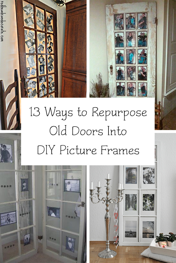13 Ways to Repurpose Old Doors Into DIY Picture Frames
