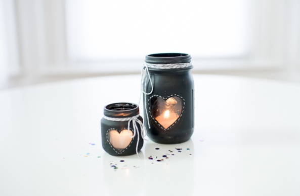 Chalkboard Mason Jar Candles
