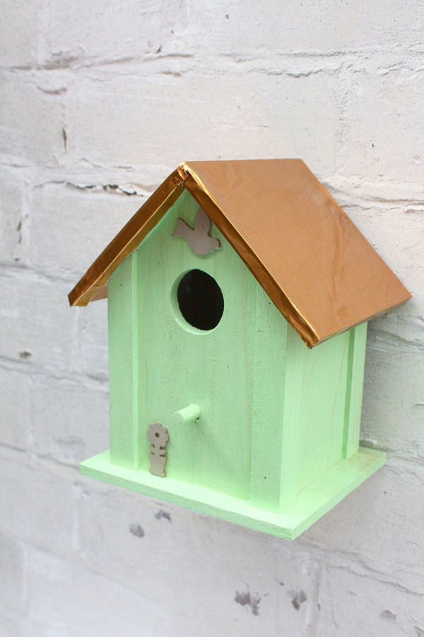 Copper and Mint Birdhouse