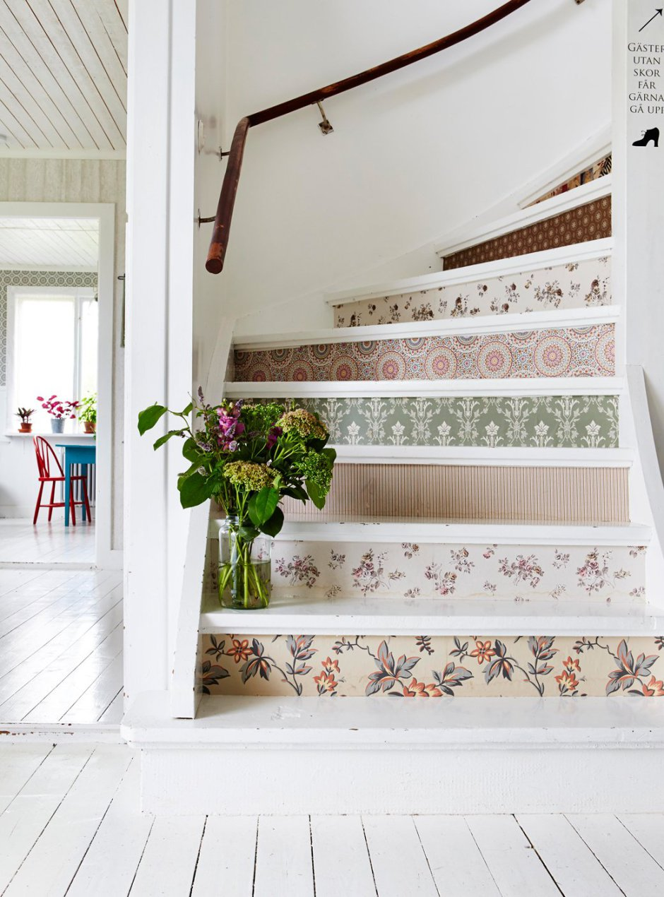 Dress up your boring stair risers