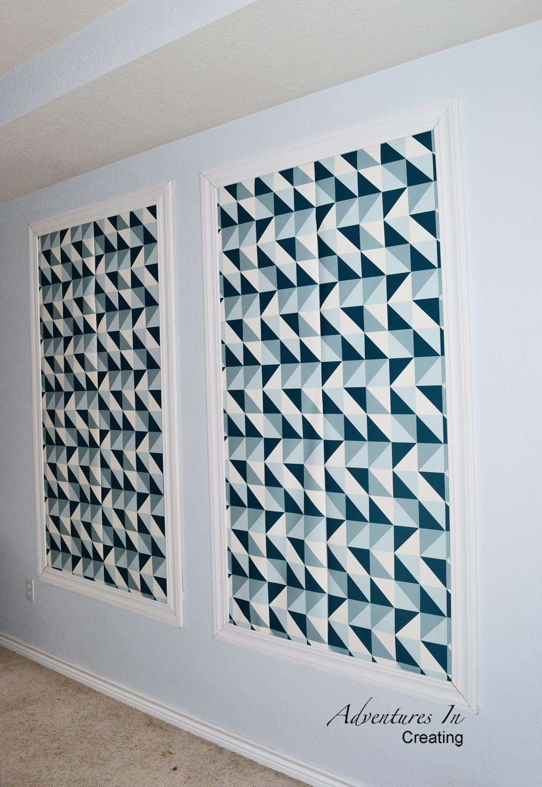 Frame some wallpaper for very cool and innovative wall art