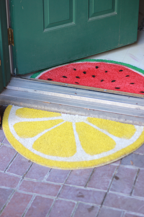 Fruit Slice Welcome Mats
