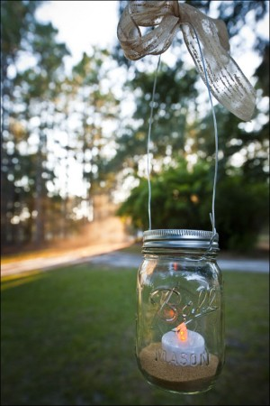 Hanging Mason Jar Candle Holder