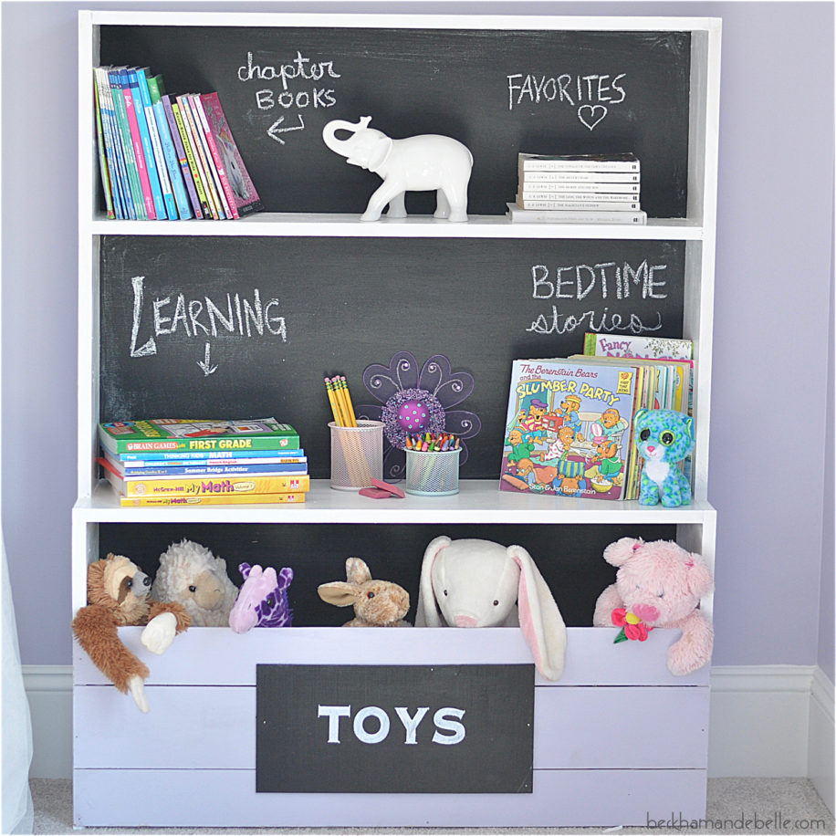 Kids Chalkboard Bookshelf