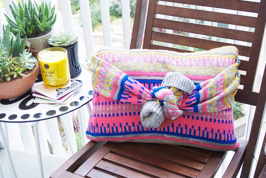 No-Sew Sweater Pillow