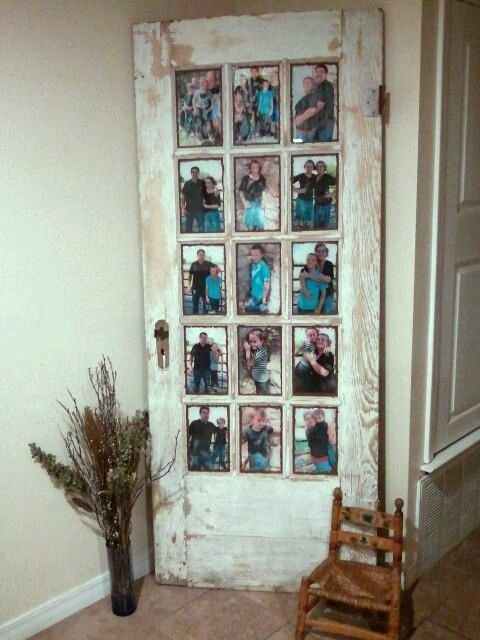 Old door picture frame ideas for Cool picture frame designs