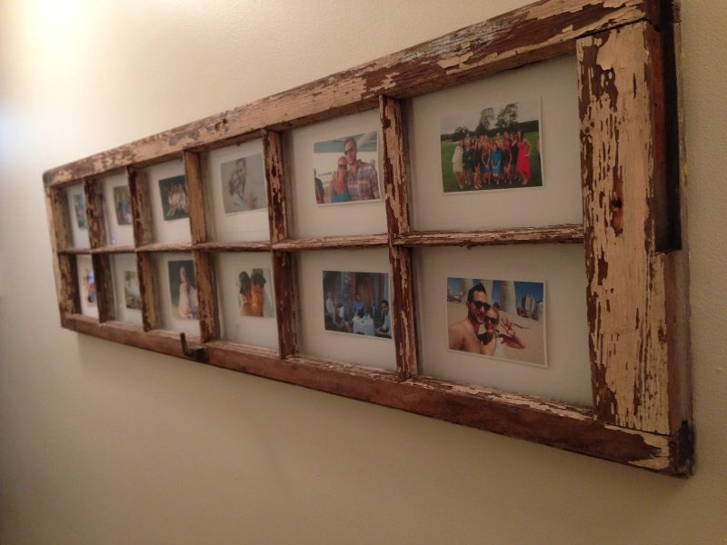 Old Door Used as a Picture Frame