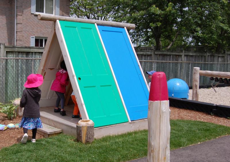 Recycled Door Playhouse