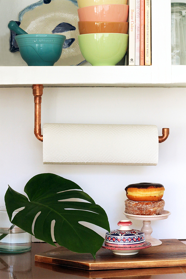 Suspended Copper Pipe Paper Towel Holder