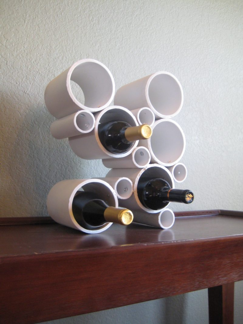 Turn PVC Pipe Into a Wine Rack