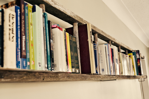 Turn an Old Ladder Into Bookshelf