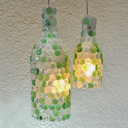 Wine Bottle Pendant Lamps