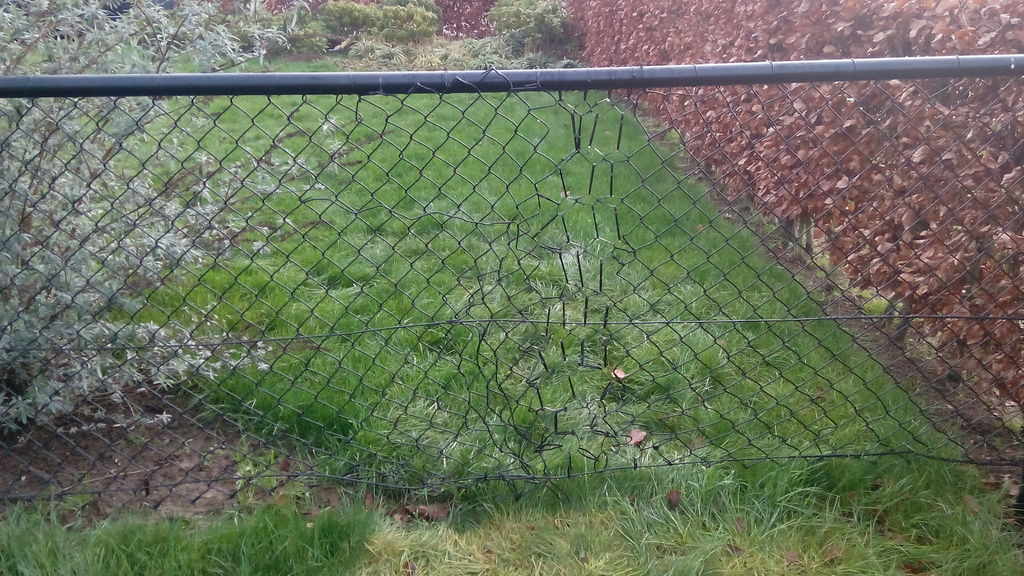Does your fence have a tear? Repair it with some zip ties