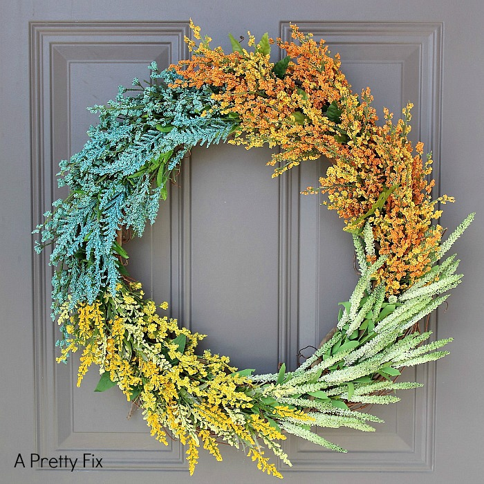 (faux) Wildflower Wreath