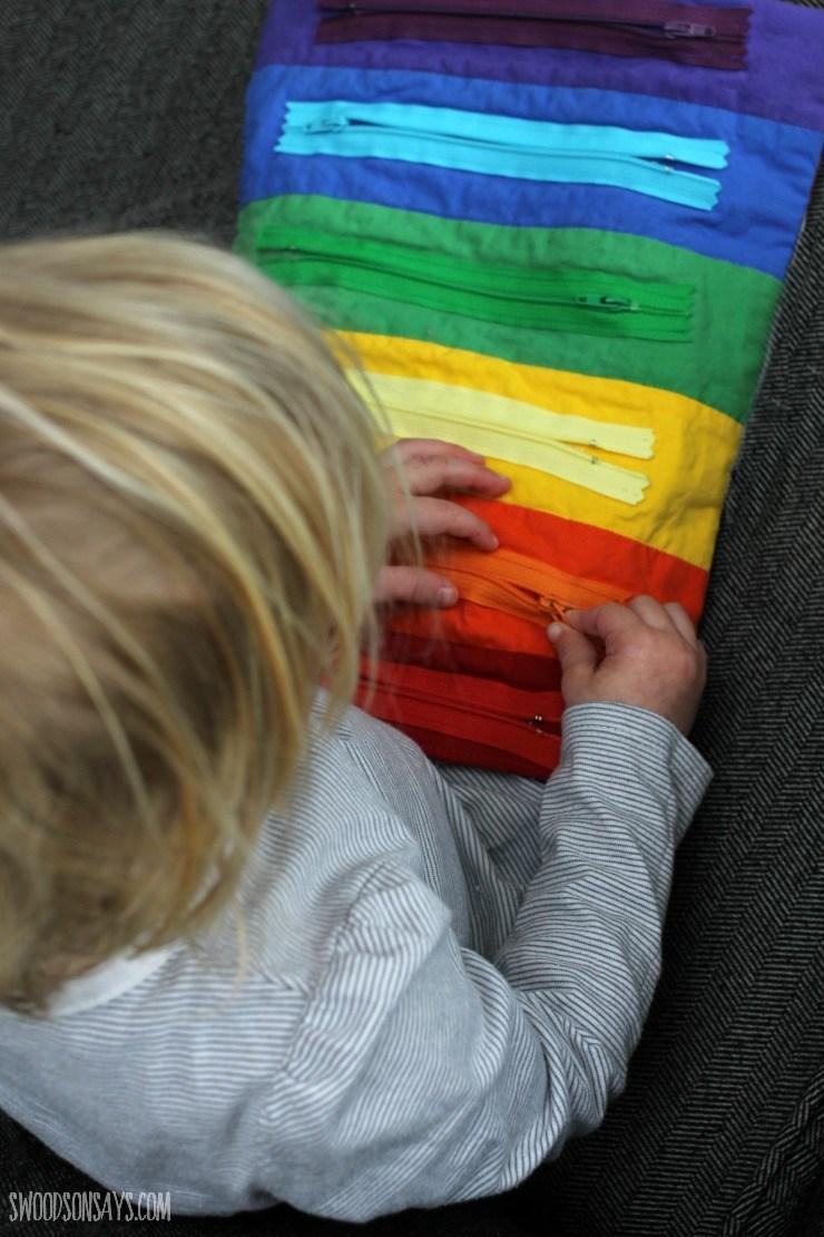 Rainbow Zipper Toy