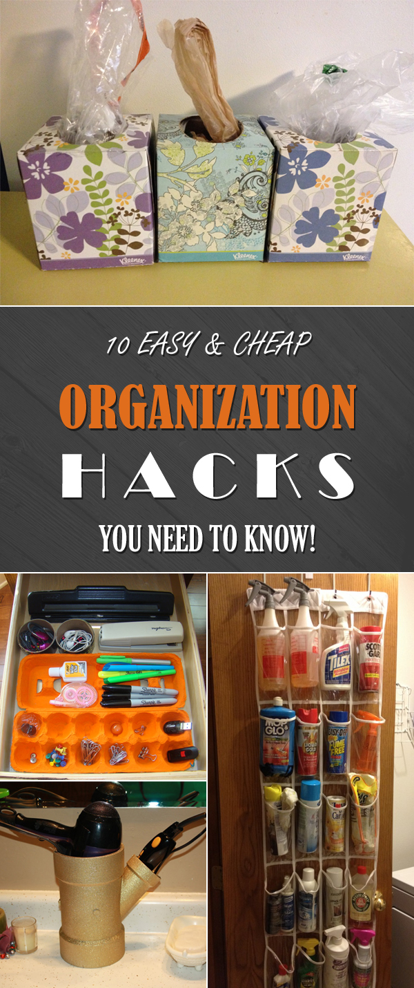 10 Easy and Cheap Organization Hacks You Need to Know!