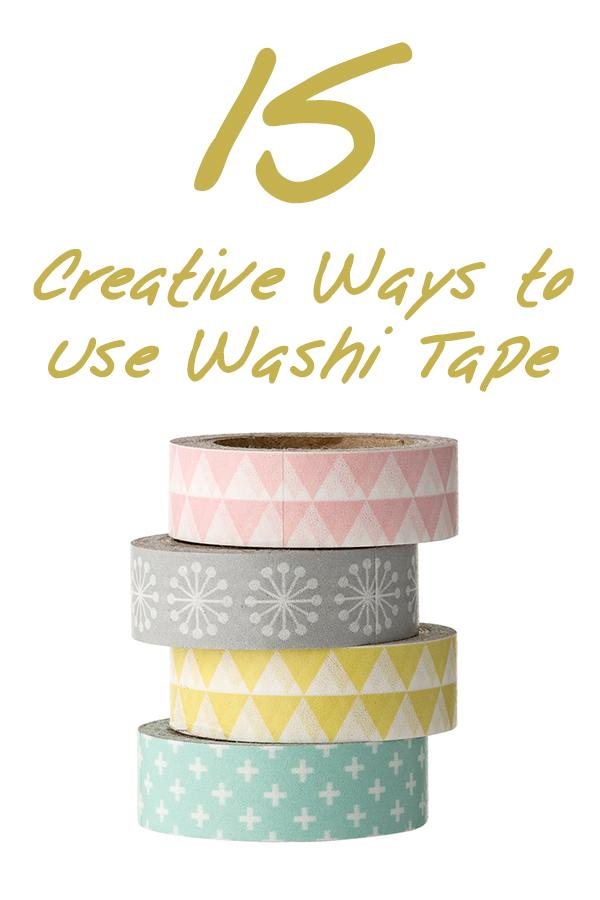 15 Creative Ways to Use Washi Tape
