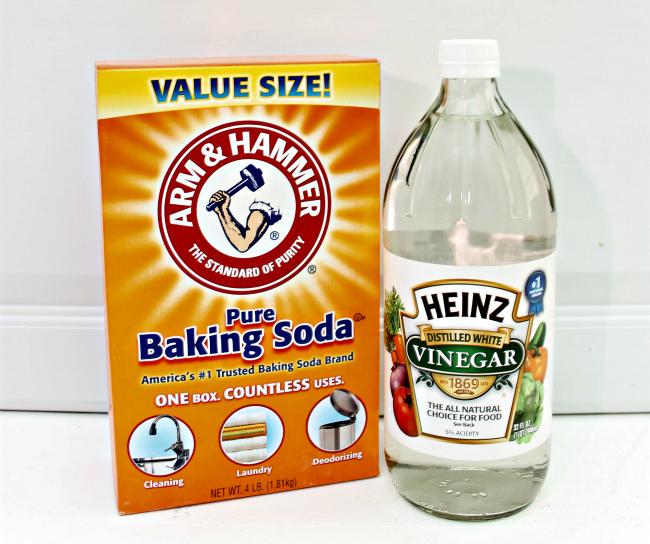 Baking Soda + Vinegar Method