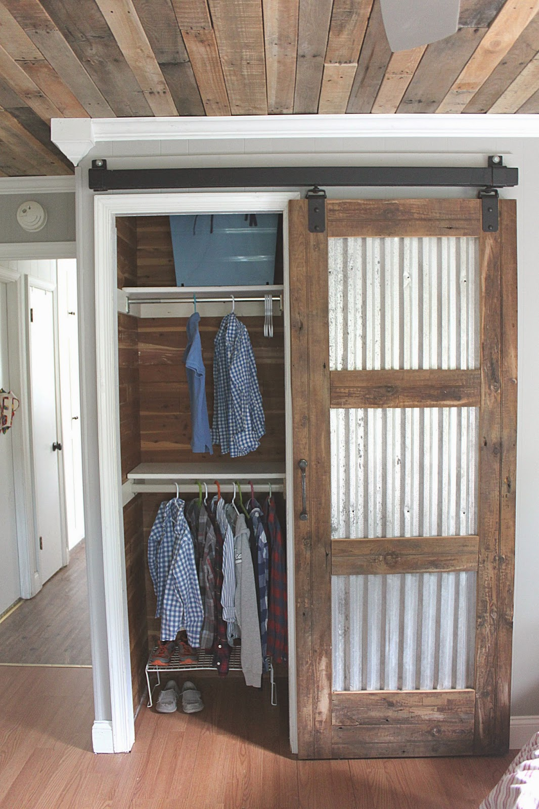 Barn Wood and Tin Sliding Door