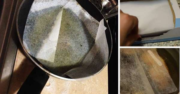Clean a Pan with A Dryer Sheet
