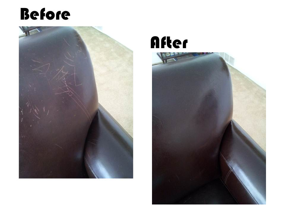 Fix scratches on leather using olive oil