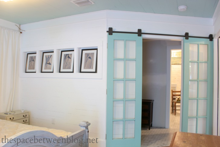 French Doors Repurposed as Sliding Doors