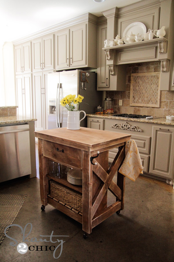 X-Leg Kitchen Island