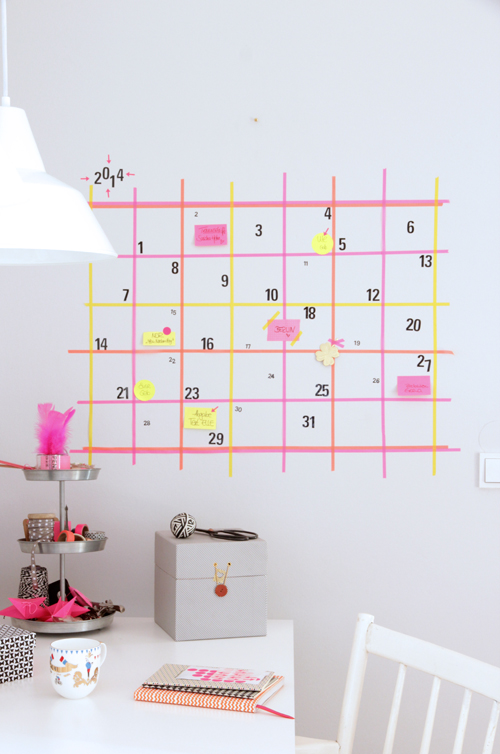 Make a giant wall calendar