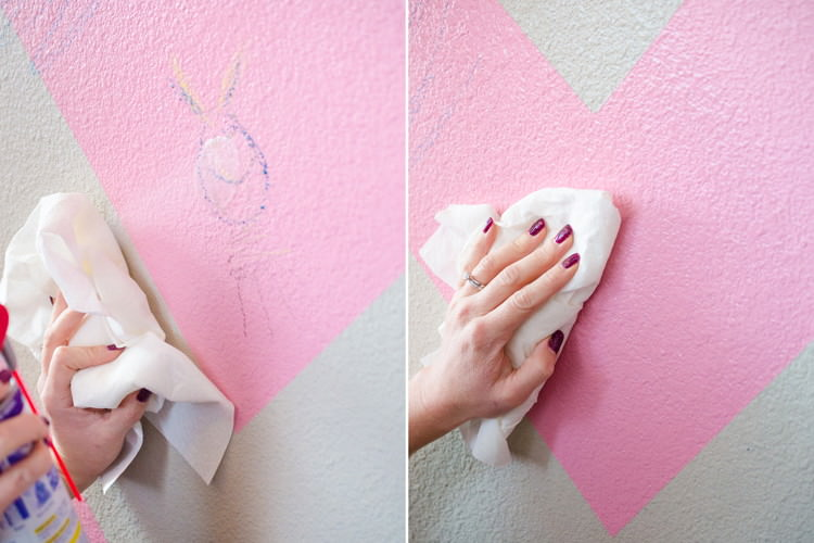 Use WD-40 to remove crayon or marker from walls