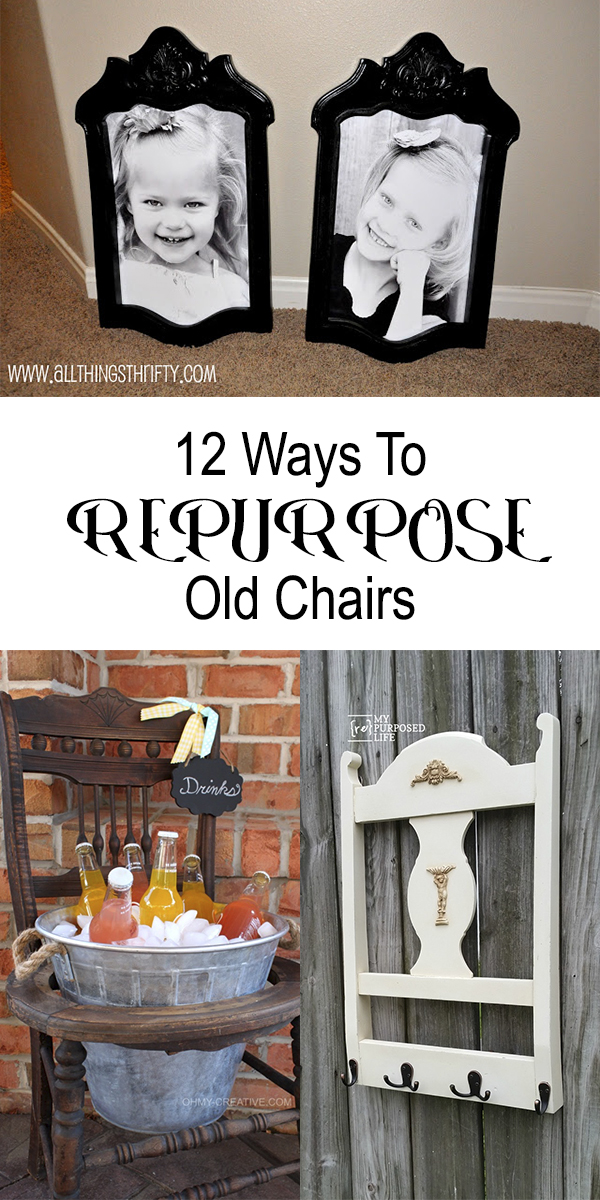 12 Creative Ways To Repurpose Old Chairs