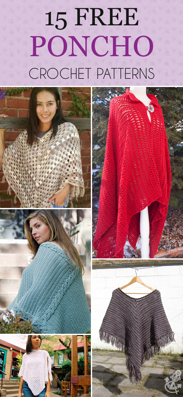 15 Free Poncho Crochet Patterns You'll Love