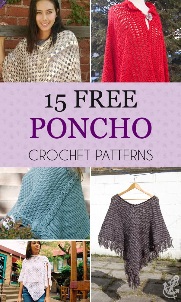 15 Free Poncho Crochet Patterns