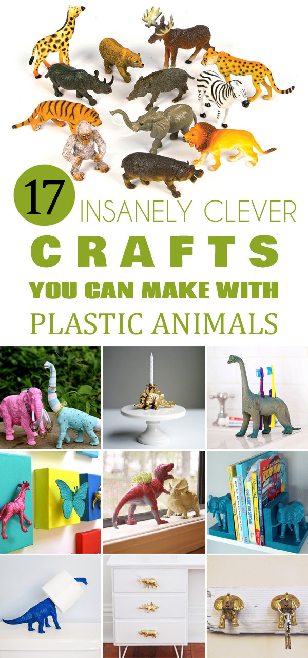 17 Insanely Clever Crafts You Can Make With Plastic Animals