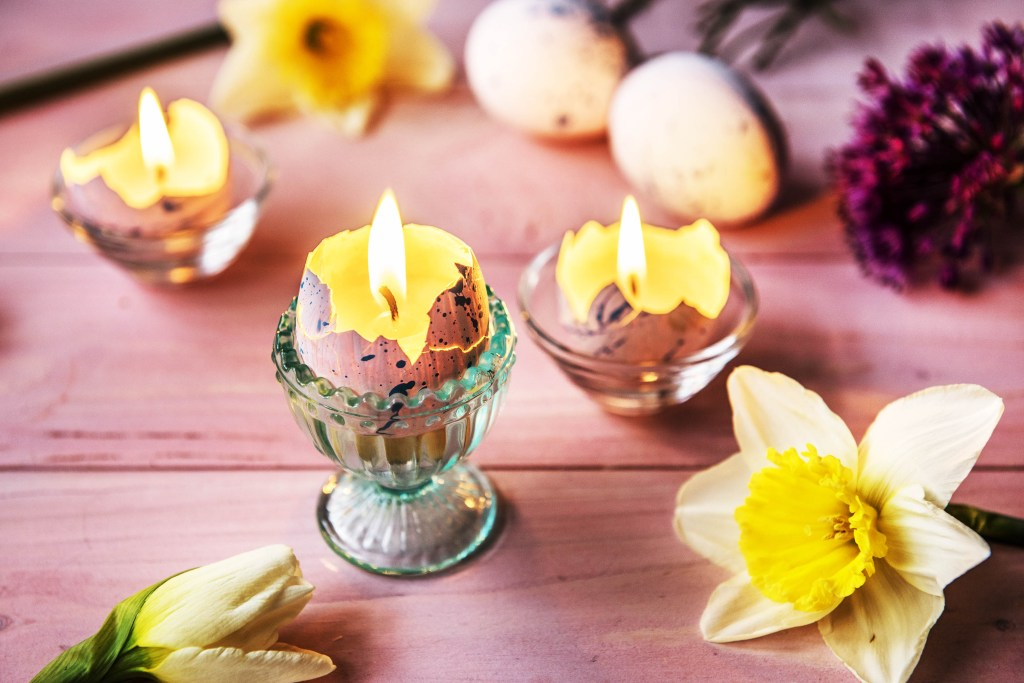Beautifully Simple Egg Candles