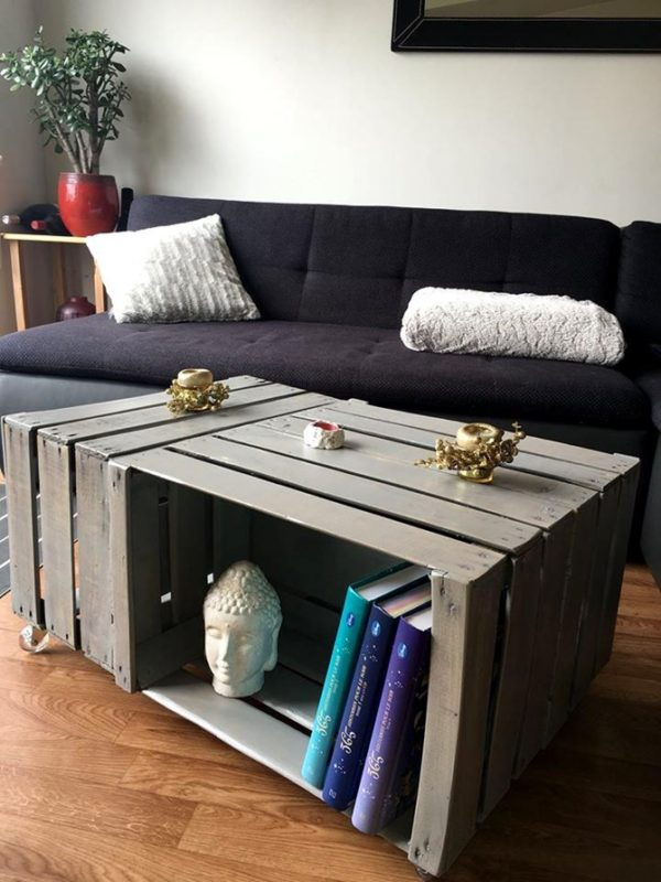 11 Diy Wooden Crate Coffee Table Ideas
