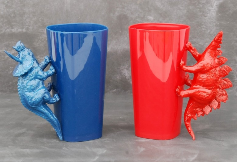Dinosaur Handle Cups
