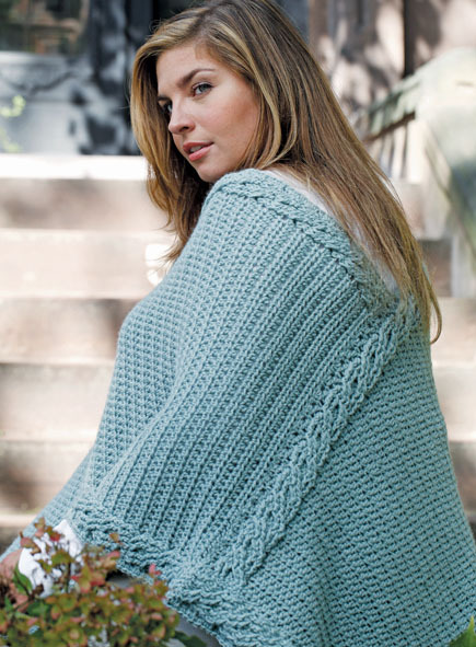 Plus-Size Intertwined Poncho