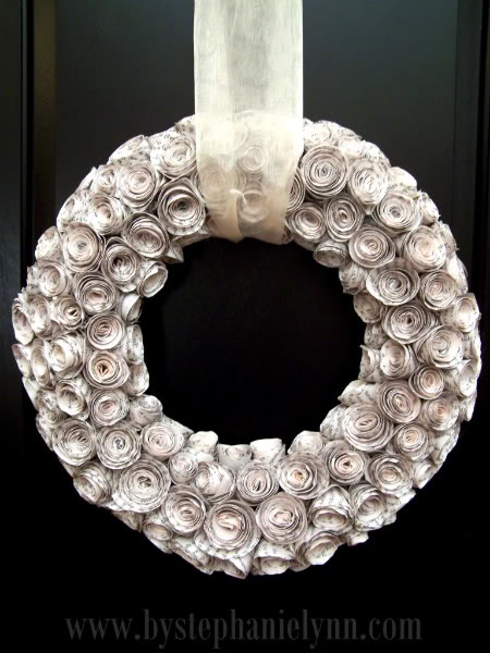 Rolled Flowers Wreath