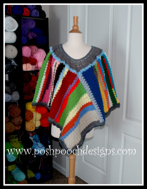Scrap Happy Crochet Poncho