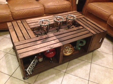 Genial Six Crate Coffee Table